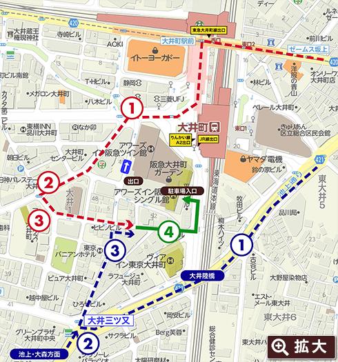 阪急大井町ガーデン周辺マップ