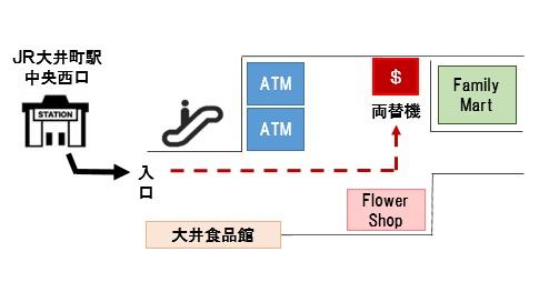 外貨両替機地図